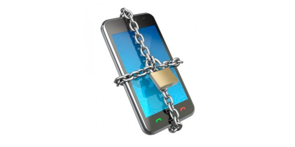 Teléfono con cadena de seguridad