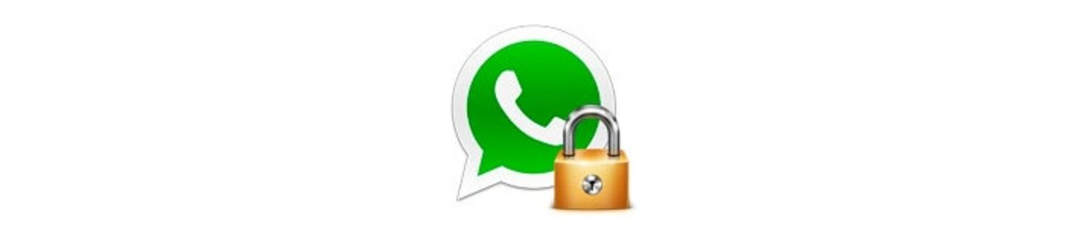 Foto logo WhatsApp con candado